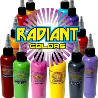 Radiant tattoo colors