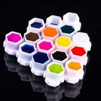 Capsule- tappini  porta-pigmento assemblabili 200 pcs