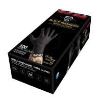 Black Nitrile  gloves powder free100 pcs -