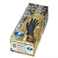 Black Latex  gloves powder free100 pcs