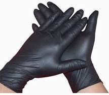 Guanti nitrile neri senza polvere  - 100 pcs